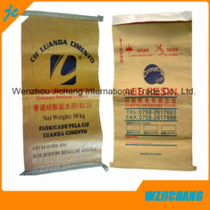 Cubic Plastic PP Valve Bag /PE Valve Bag /Kraft Bag pictures & photos