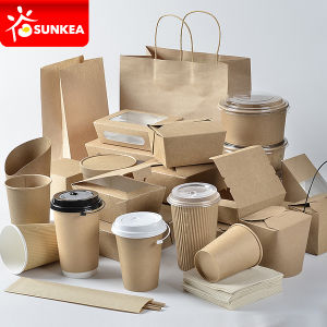 Custom Brand Printed Disposable Paper Fast Food Packaging