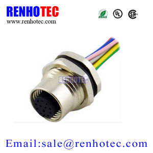 M12 a Coding 12 Pin Female Rear Mounting Connector for Wires pictures & photos