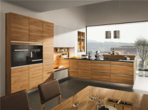 Wood Melamine Kitchen Cabinets for Home Furnitures (ZHUV) pictures & photos