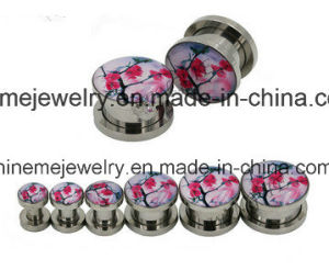 Stainless Steel Double Flare Ear Plug (SPG1831) pictures & photos