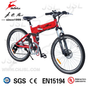 "Red 26"" Mountain Folding Electric Bicycle With Hiden Battery (JSL035B-1) pictures & photos"