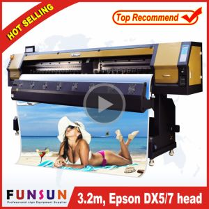 Hot Selling Funsunjet Fs-3202g 3.2m/10FT Outdoor Wide Format Printer with Two Dx5 Heads 1440dpi for Flex Banners Printing pictures & photos