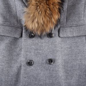 Fur Coat with Raccoon Fur on Collar Men Long Style pictures & photos