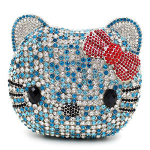 Fashion Crystalstone Evening Bag Cat Face Ladies Clutch Bags Handbag Leb737 pictures & photos
