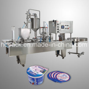 Cup Filling and Sealing Machine for Yoghurt