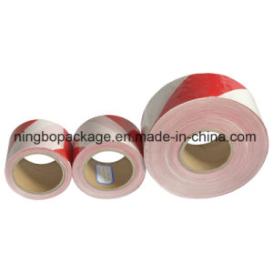 PE Plastic Warning Tape with Red and White Color pictures & photos