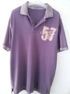 Men′s Fashion Washed Polo T-Shirt