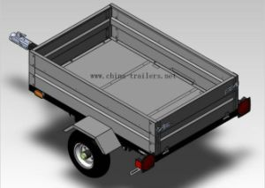 Hot DIP Galvanized Box Trailer (TR0406) pictures & photos