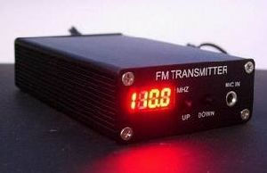 China 5W FM Transmitter Power Supply Mini Radio Station