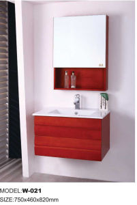 Sanitary Ware Oak Bathroom Cabinet Bathroom Vanity (W-021)