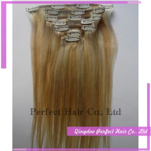 Natural Virgin Keratin Clip in Extension Hair pictures & photos