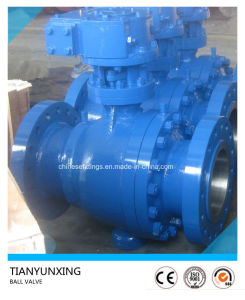 API Worm Gear Operation Flanged Cast Steel Ball Valves pictures & photos
