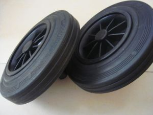 Solid Rubber Wheel (Dustbin Wheel) pictures & photos