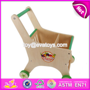 Funny Toys Toddlers Wooden Push Toy Shopping Cart W16e068 pictures & photos