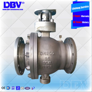 Stellite Alloy Seat Flanged Trunnion Mounted Ball Valve