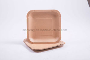 15cm 18cm 20cm Disposable Food-Grade White Brown Paper Plates & China 15cm 18cm 20cm Disposable Food-Grade White Brown Paper Plates ...