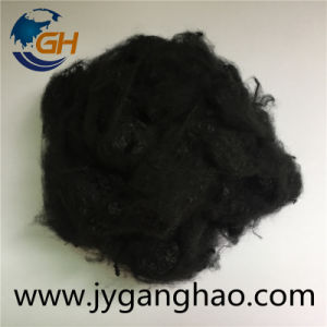 Polyester Staple Fiber in Black pictures & photos