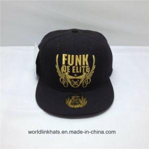 8b93a377 Custom High Quality 6 Panel 3D Gold Embroidery Flat Peak Snapback Cap with  Logo Design
