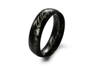 Top Quality Mens Plated Anium Punk Thumb Wedding Band Rings With Lords Lettering