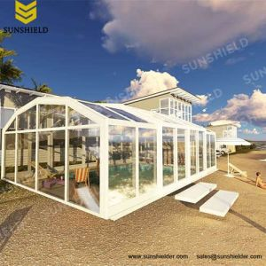 China Automatic Retractable Swimming Pool Enclosures China Cafe Enclosures And Commercial Enclosure Price