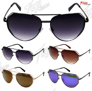 New Designed and Best Selling Irregular Metal Sunglasses