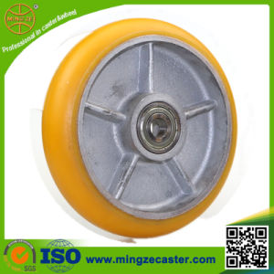 Crown Type Cast Iron PU Caster Wheel pictures & photos