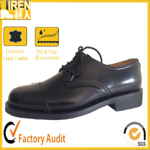 2017 New Fashion Black Genuine Leather Army Safety Footwear Military Office Shoes pictures & photos