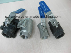 Investment Casting Carbon Steel Screwed Ball Valve pictures & photos