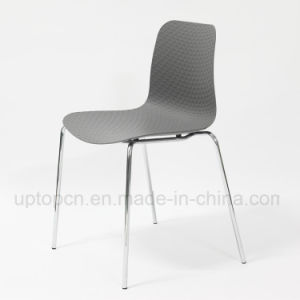 Cafeteria PP Plastic Chair Metal Chrome Chair for Sale (SP-UC523) pictures & photos