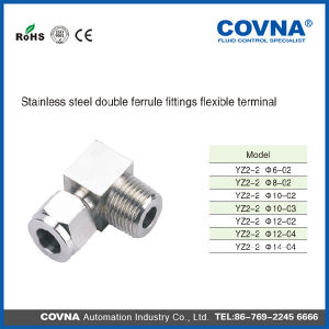 Stainless Steel Pneumatic One Touch Fittings Yz2-2 Series