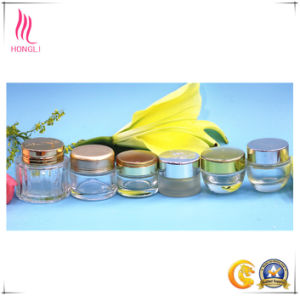 Facial Mask Glass Bottle Eyeliner Cream Jar with Cover pictures & photos