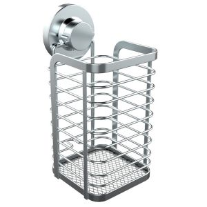 Suction-Fix Stainless Steel 304 Kitchen Utensil Holder