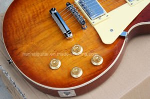 Hanhai Music / Dark Brown Lp Standard Electric Guitar pictures & photos