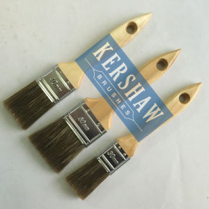 Paint Brush Set (mixed filament flat brush with poplar wood handle) pictures & photos