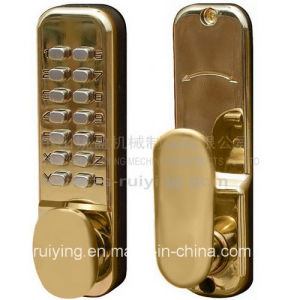 Polished Brass Door Lock for Entrance and Room