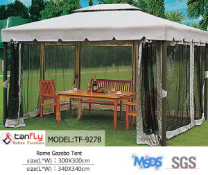 Aluminum Frame Polycarbonate Garden Gazebo with Sidewall