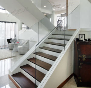 Customized Stainless Steel Bottom Design for Staircase Frameless Glass Railing pictures & photos