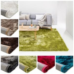 Long High Thick Pile Polyester Silk Shiny Soft Shaggy Carpet Rugs Silky Shag