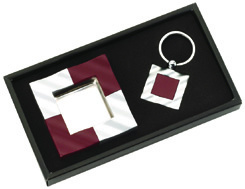 Promotional Metal Printing Gift Sets (Ashtray + Key Chain) (GAT420) pictures & photos