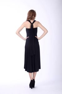 Women′s European Style Halter Neck Backless Evening Dress pictures & photos