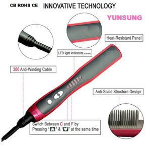 Factory Price Hair Straightener Brush pictures & photos