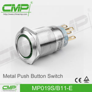 19mm High Head Stainless Steel Metal Push Button Switch pictures & photos