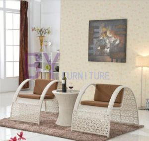 3 PCS High-Grade Hand-Weaving Decorative Pattern PE Rattan Furniture
