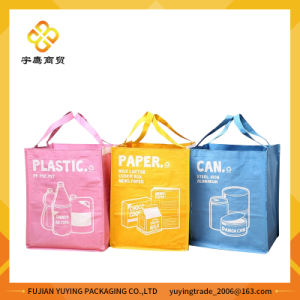 Three Colours Non Woven Tote Bag with Customized Printing