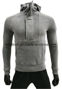 High Quality Unique Design Slub Cotton Hoody for Men with Garment Dye pictures & photos