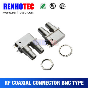 Right Angle Dual BNC Female Connector PCB Mounting BNC Connector pictures & photos