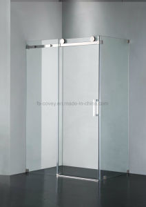 Sliding Bathroom Shower Enclosure With Stainless Steel Wall Frame (UPC 05)