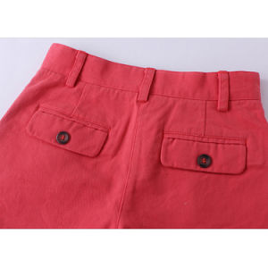 Pretty Regular Coral Plain Cotton Kids Shorts for Girls pictures & photos