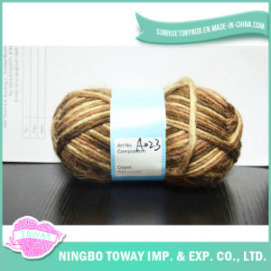 Weaving Customized Acrylic Cotton Hand Knitting Scarf Yarn pictures & photos